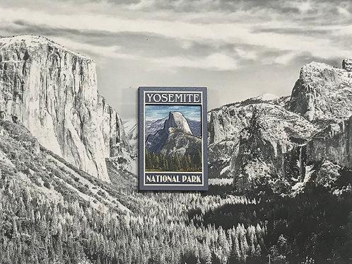 Yosemite Half Dome 2D Wood Magnet