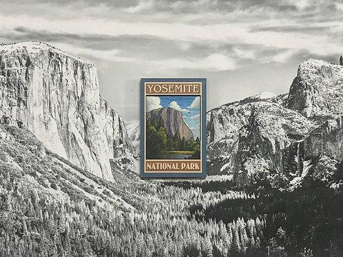 Yosemite El Capitan 2D Wood Magnet
