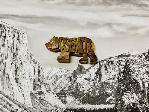 Yosemite Wood Bear Craved Magnet