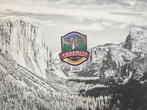 Yosemite Water Fall Small Sticker