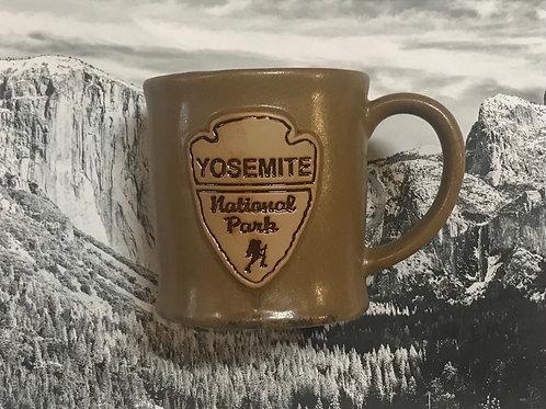Yosemite National Park Brown Large Ceramic Mug