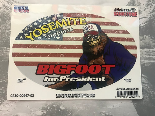 Bigfoot for President Sticker
