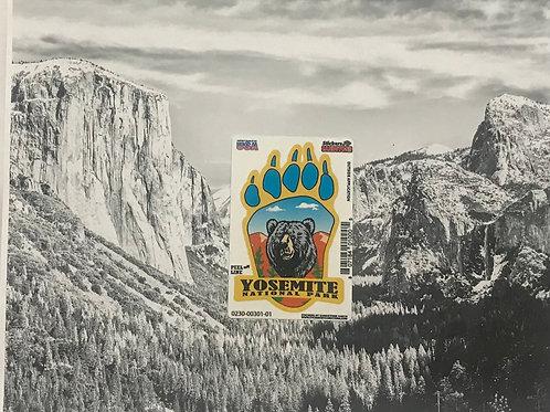 Yosemite Bear Paw Mini Sticker