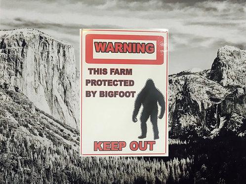Warning Keep Out Tin Sign