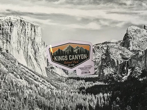 Kings Canyon Mountain Small Sticker