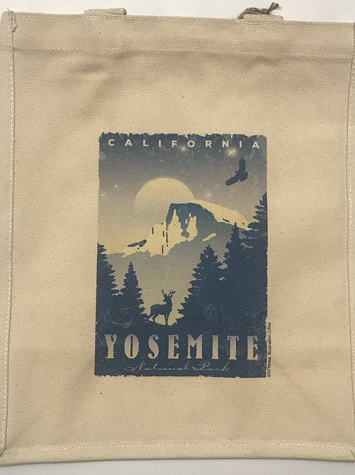 Yosemite Night Time Grocery bag