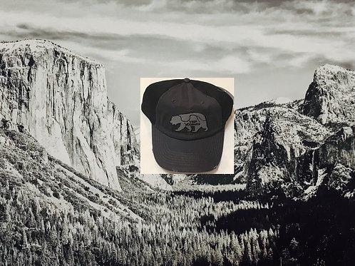 YNP Yosemite Bear Black and Grey Baseball Cap