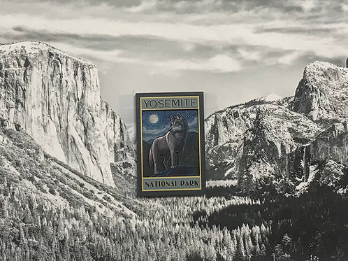 Yosemite Wolf 2D Wood Magnet