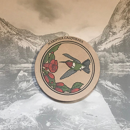 Mariposa California Stand Stone Hummingbird Coaster