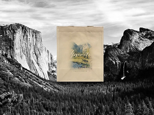 Yosemite Valley with Bears Grocery Bag