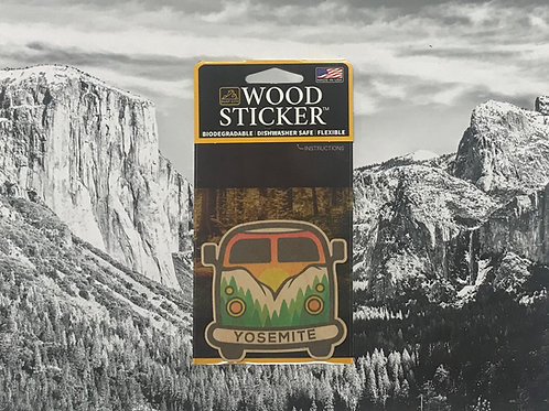 Yosemite Bus Wood Sticker