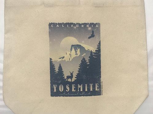 Yosemite Night Time Large Tote Bag