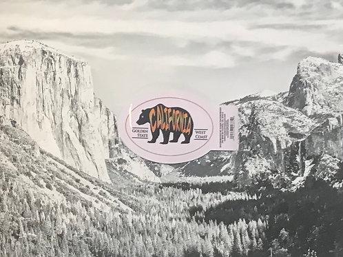 California Black Bear Small Sticker
