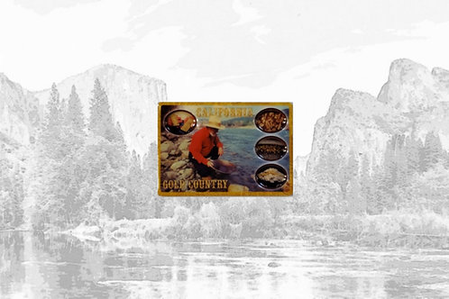 3D Gold Country Magnet