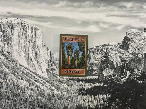 Yosemite Mariposa Grove 2D Wood Magnet