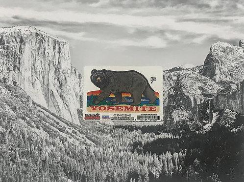 Yosemite Bear Walking Mini Sticker