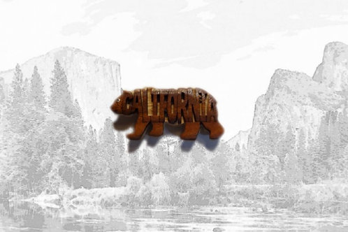 Wooden California Bear Magnet