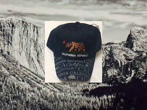 California Republic Blue Baseball Cap