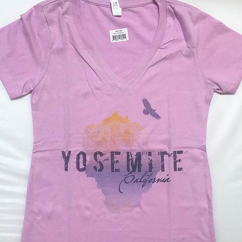 Yosemite Half Dome V-Neck T-Shirt 2X