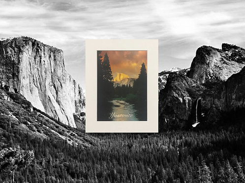 Half Dome Glowing Print
