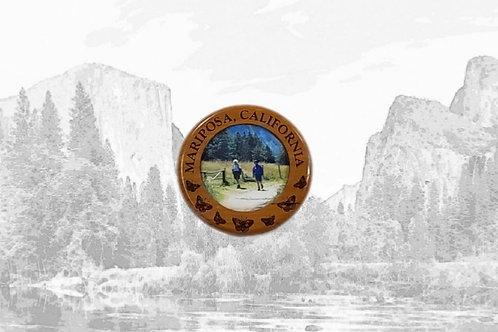 Mariposa Wood Frame Magnet