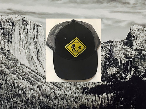California Beware BigFoot Baseball Cap