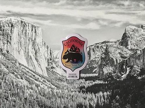 California Bear Colorful Small Sticker
