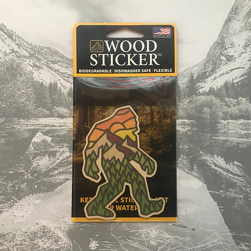BigFoot Wood Sticker