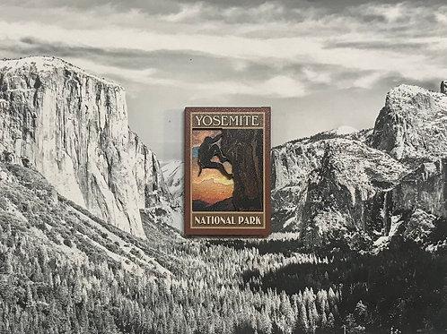Yosemite Climber 2D Wood Magnet
