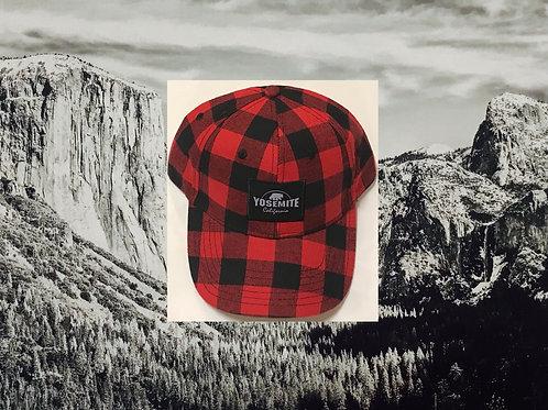 Yosemite Red & Black Checkered Baseball Cap