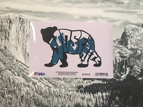 Yosemite Word Black Bear Sticker