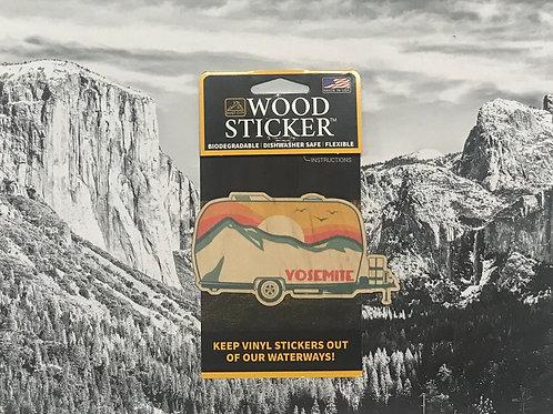 Yosemite Camper Wood Sticker
