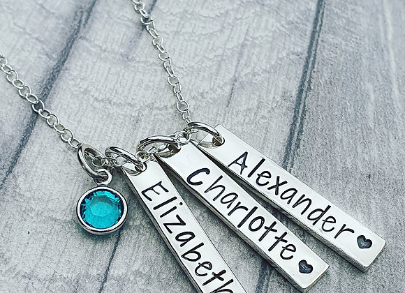 Personalised Family Bar Necklace
