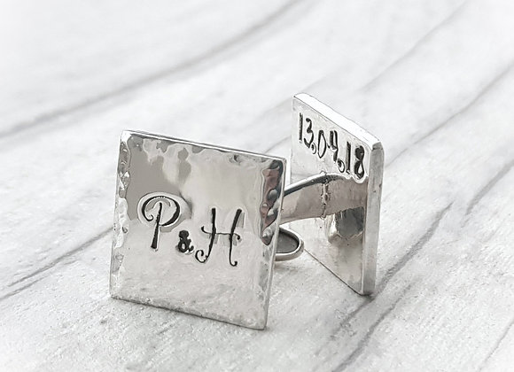 Personalised Sterling Silver Cufflinks