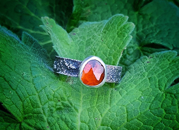 Sterling Silver and Polki Tourmaline Ring