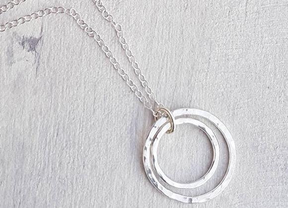 Infinity Double Hoop Pendant