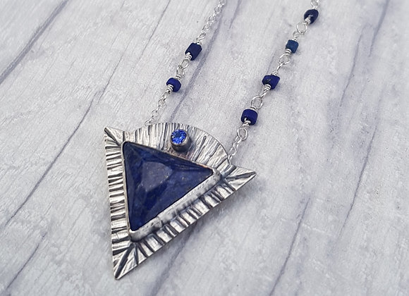 Lapis Lazuli Boho Pendant