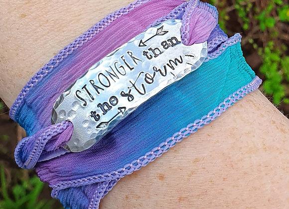 Natural silk wrap bracelet