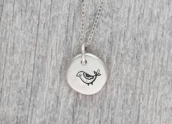 รσŋɢ๖ıгɖ - 100% recycled silver pebble pendant