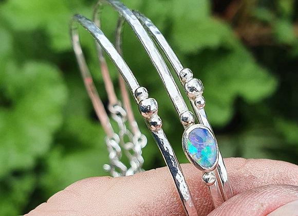 Silver Skinny Stack Bracelet