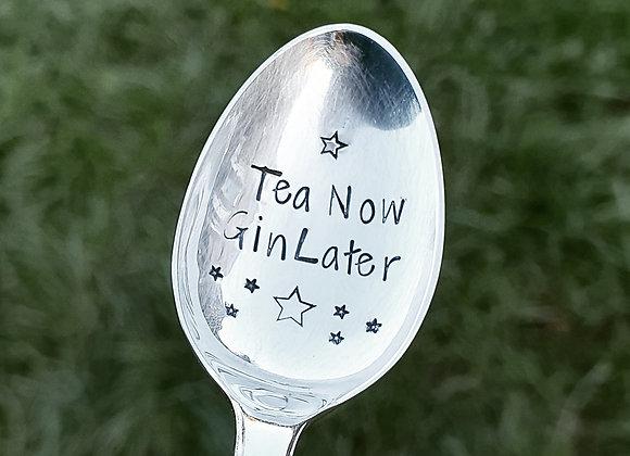 Vintage Handstamped Silver Plated Teaspoon