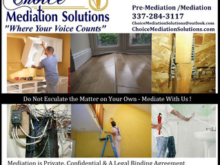 "Home Construction Mediation                  ""We come to Your Job Site"""