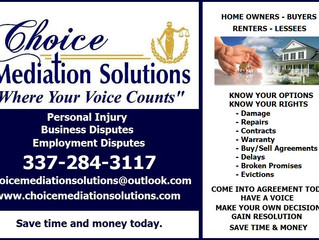 Mediation for Renters, Lessees, Buyers & Home Owners