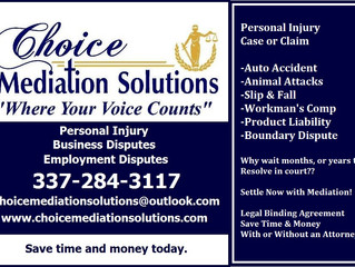 Personal Injury - Mediation Resolves Now!