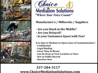 Manufacture's / Saw Mills / Commercial / Small Business - Conflict Resolutions