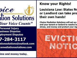 Why Mediation for Eviction