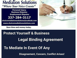 Mediation Services for Business Disputes, or Transactions.