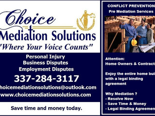 Enjoy  Home Construction with Pre Mediation or Conflict Protection Agreement