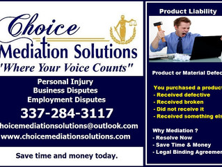 Product Liability - Mediation Services