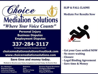 Slip & Fall Mediation Services